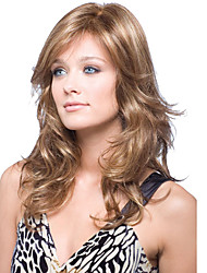 Cerebrity Style Natural Looking Brown Color Wigs with Bang