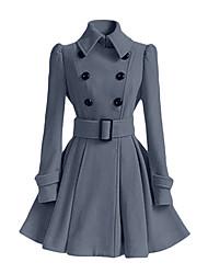 Пальто Обычная Длинный рукав