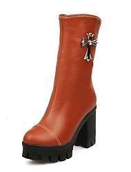 Feminino-Botas-Plataforma Coturno Inovador Botas de Cowboy Botas de Neve Botas Cano Curto Botas Montaria Botas da Moda Botas de