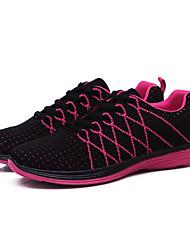 Damen-Sportfederschuhe / Komfort Stoff beiläufige flache Ferse pink / lila / rot / grau Sneaker fallen