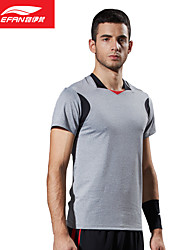 Running Tops Men's Short Sleeve Breathable / Soft Polyester Exercise & Fitness /  Stretchy SlimOutdoor