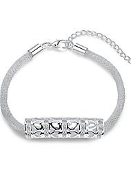 Damen Ketten- & Glieder-Armbänder Liebe Modisch Luxus-Schmuck Europäisch Sterling Silber Edelstein versilbert Aleación Kreisform Weiß