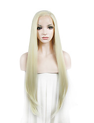 IMSTYLE 24On Sale Long Natural Straight Synthetic Lace Front Wigs