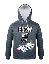 Inspired by 3D Blow Me Up Long Sleeve Hoodie Cosplay Hoodies Print Long Sleeve Coat Clothing Round Halloween
