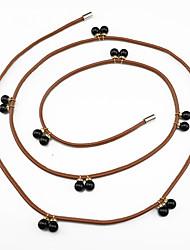 Ms. Fashion Leather Fabric Waist Rope  Pendant Waist Rope