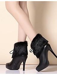Damen Stiefel Stiefeletten Leder Herbst Winter Stiefeletten Schleife Stöckelabsatz Weiß Schwarz 7,5 - 9,5 cm