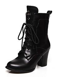 Feminino-Botas-Plataforma Trabalho & Segurança Coturno Inovador Botas de Cowboy Botas de Neve Botas Cano Curto Botas Montaria Botas da