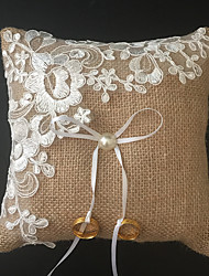 Champagne 1 Ribbons Faux Pearl Embroidery Linen