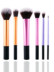 6pcs Makeup Brushes Set Blush brush Eyeshadow Brush Lip Brush Makeup Kit Cosmetic Brushes