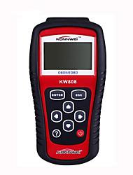 kw808 EOBD OBDII 2 автомобиля / двигатель автомобиля диагностический сканер инструмент код читателя