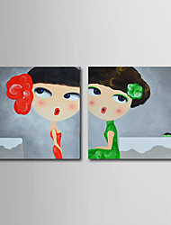 Modern Wall Art Pictures Abstract Oil Painting Girl Hand-Painted On Canevas Home Decoration Painting With Frame