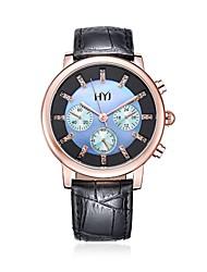 HYJ 2016 new arrvial leather fashion women quartz watch 625