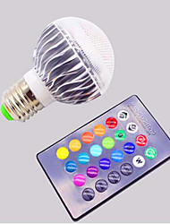 Ac85 -265v 5w e27 / e26 rgb conduit des ampoules de décoloration à distance intelligentes 1pc
