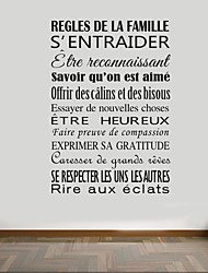 Mots & Citations Stickers muraux Stickers avion Stickers muraux décoratifs,PVC Matériel Amovible Décoration d'intérieur Wall Decal