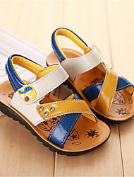 Girl's Sandals Spring / Summer / Fall Sandals PU Outdoor / Casual Flat Heel Bowknot Brown / White Walking