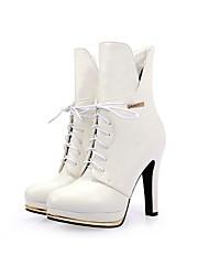 Feminino-Botas-Sapatos clube Light Up Shoes-Salto Agulha-Preto Vermelho Branco-Couro Ecológico-Ar-Livre Social Casual