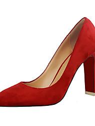 Women's Heels Summer Heels Fleece Casual Chunky Heel Others Black / Green / Pink / Red / Gray / Khaki Others