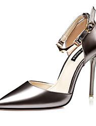 Для женщин Обувь на каблуках Полиуретан Лето Повседневные На шпильке Черный Серебряный Розовый Золотой 7 - 9,5 см
