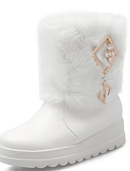 Women's Boots Fall / Winter Snow Boots PU Outdoor / Dress / Casual Flat Heel Others Black / Red / White Snow Boots