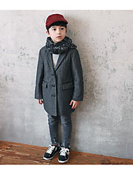 Boy's Formal Solid Suit & BlazerWool Fall Black