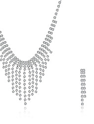 Набор украшений Ожерелье / серьги Свадебные комплекты ювелирных изделий Кисточки Мода европейский Драгоценный камень Серебрянное покрытие