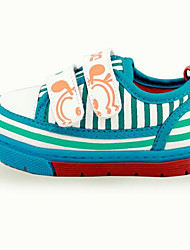 Girl's Sneakers Fall Comfort Canvas Casual Flat Heel Lace-up Blue Green Red Coral Others
