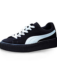 Unisex Athletic Shoes Spring / Fall Comfort Fabric Casual Flat Heel  Yellow / Black and White / Beige Sneaker