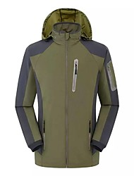 Hiking Softshell Jacket Men's Breathable / Quick Dry / Windproof / Ultraviolet Resistant / Ultra Light Fabric /