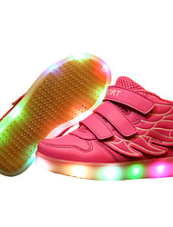LED Light Up Shoes, Girl's Shoes Sneakers Comfort / Flats Athletic / Casual / Magic Tape / wings / Blue / Pink / Red / White