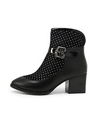 Feminino-Botas-Saltos / Botas de Cowboy / Botas de Neve / Botas Cano Curto / Plataforma Básica / Bico Fino / Botas Montaria / Botas da