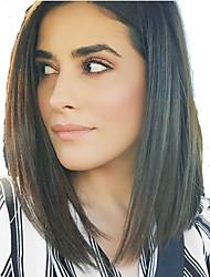 court avant de dentelle de bob perruques de cheveux humains 8-12inch pour les femmes de cheveux vierge brazilian