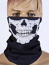 Halloween party skull skull mask black motorcycle multifunctional headgear hat scarf neck movement faces terrible