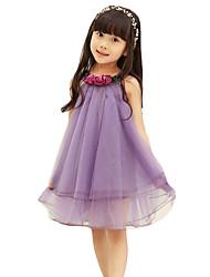 Vestido Chica de-Noche-Un Color-Otros-Verano-Rosa / Morado