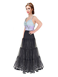 Floor Length A-line None-hoop Wedding Petticoat Long crinoline for Evening Dress