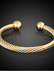 Bracelet Cuff Bracelet Gold Plated Circle Fashion Daily / Casual Jewelry Gift Coppery,1pc