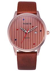 Masculino Relógio de Pulso Digital / Quartzo Japonês Calendário / Impermeável Couro Banda Pendente Preta marca