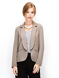 NAKED ZEBRA® Damen Tiefes V Lange Ärmel Shirt & Bluse Schwarz / Weiß / Khaki / Dunkelblau-AJ2674