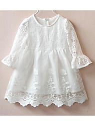 Robe / Ensemble & Combinaison Fille de Couleur Pleine Sortie Coton Printemps / Automne Blanc