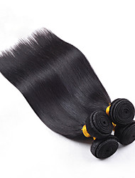 Unprocessed 4Pcs/Lot Indian Virgin Hair Straight 100% Human Hair Weft Indian Hair Weave Bundles Tangle Free