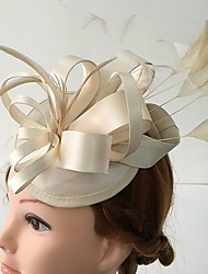 Women's Satin / Feather Headpiece-Wedding / Special Occasion / Casual Fascinators 1 Piece