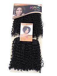 1pc edlen Gold dora 2 in 1 synthetischen Haarverlängerung Premium-Qualität Haarwebart Farbe 1 10inch
