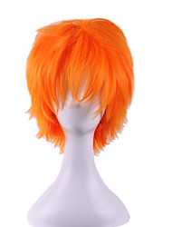 The New COS Wig Orange Personality Turned Up Short 6 Inch