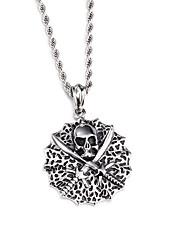 kalen® do punk arrefecer aço inoxidável 316L viking colares crânio jóias para homens 760 milímetros longos colares de cadeia