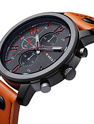 Hombre Reloj de Moda Cuarzo / Piel Banda Encanto Negro Marrón Negro Naranja Marrón Azul