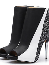 Women's Boots Spring / Summer / Fall Heels / Peep Toe / Fashion Boots / Bootie PU / Fabric Party & Evening / Dress /