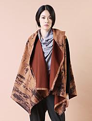 Yishidian® Femme Col de Chemise Manche Longues Pull & Cardigan Marron-YSD1588W1