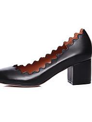 Femme-Décontracté--Gros Talon Block Heel-Confort-Chaussures à Talons-Cuir