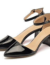 Women's Sandals Summer Heels / Sandals / Pointed Toe Patent Leather Office & Career / Dress / Casual Chunky Heel Buckle