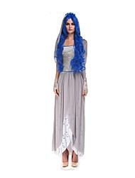 Costumes Esprit Halloween Gris Couleur Pleine Térylène Robe / Plus d'accessoires