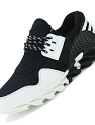 Femme-Extérieure / Décontracté / Sport-Noir / Noir et blanc-Talon Bas-Confort-Sneakers-Tulle